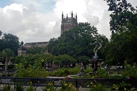 Audubon Park, onlooking Loyola